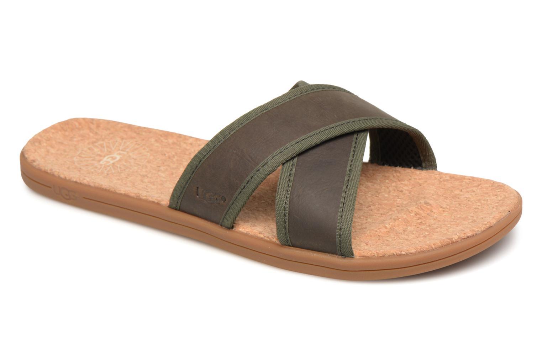 Sandales et nu-pieds UGG Seaside Slide Marron vue détail/paire
