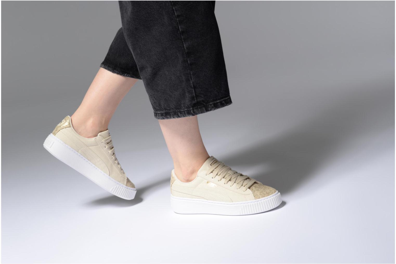 Zapatos promocionales Puma Basket Platform Canvas Wn's (Oro y bronce) - Deportivas   Los zapatos más populares para hombres y mujeres