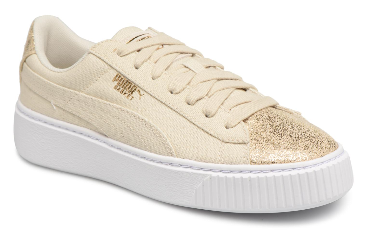 Birch-Puma Team Gold Puma Basket Platform Canvas Wns (Or et bronze)