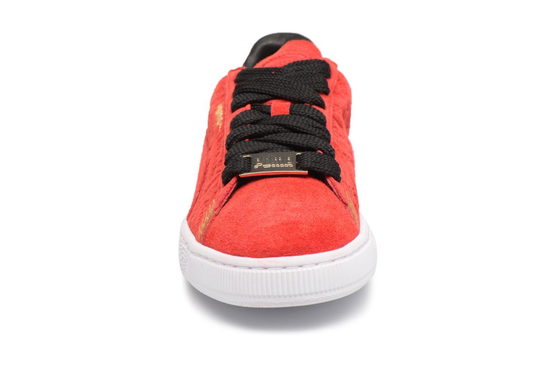 Baskets Puma Suede Classic BERLIN Rouge vue portées chaussures