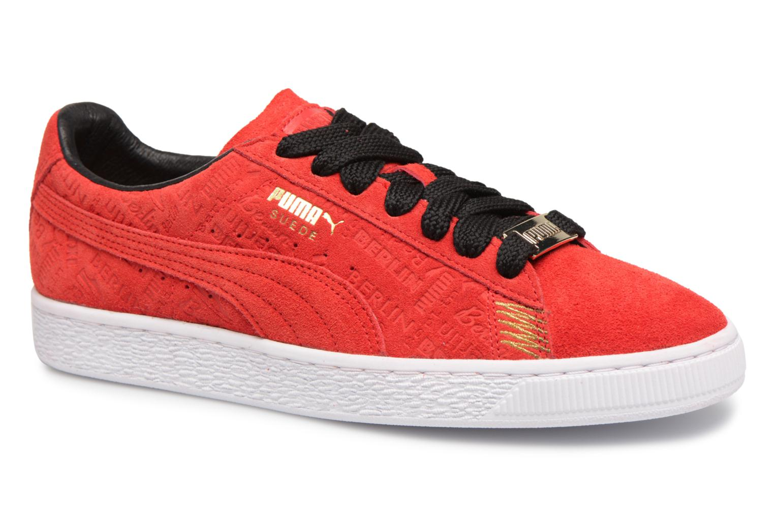 Basket mode - Sneakers PUMA Suede S Rouge cazei