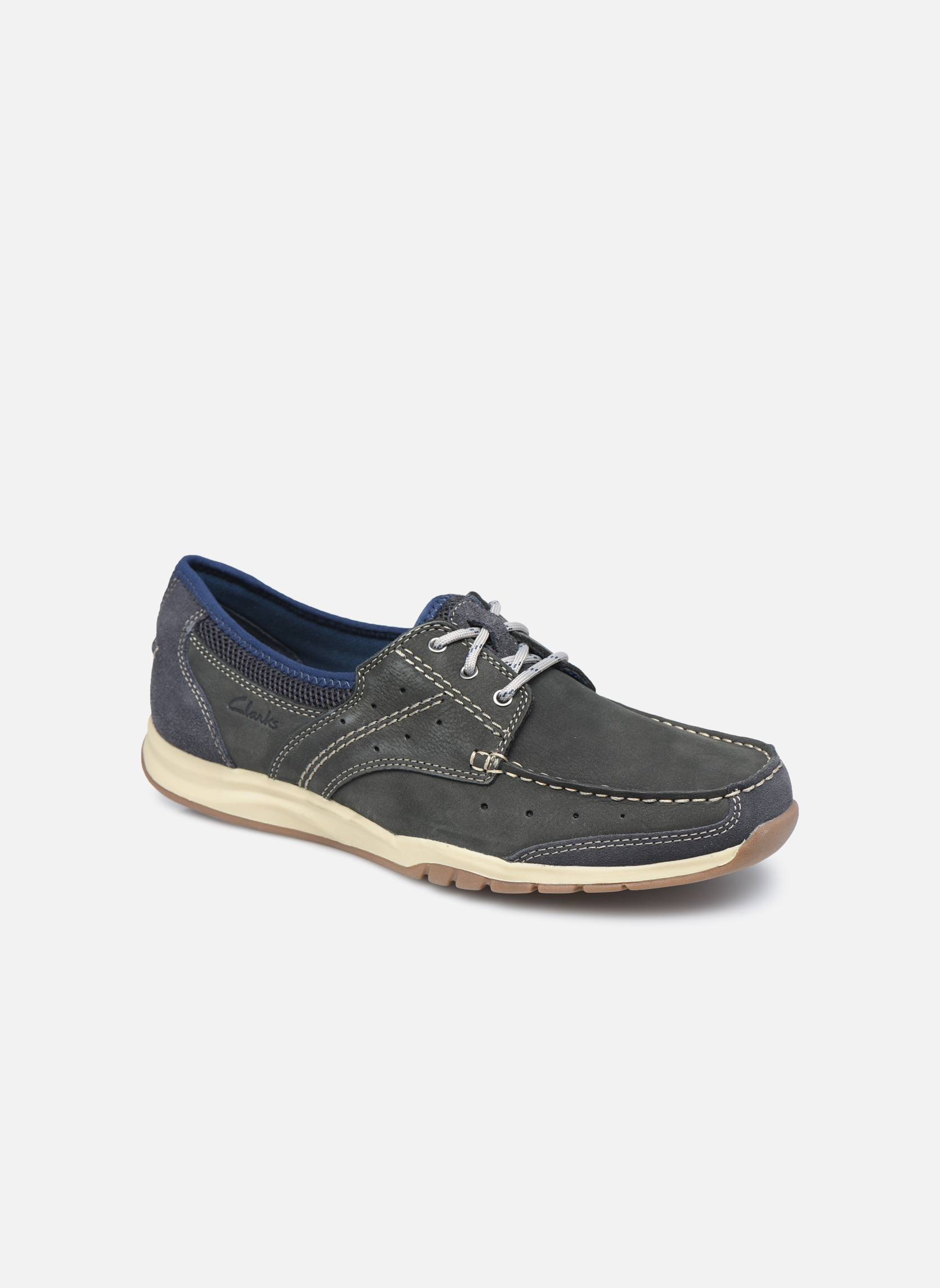 Clarks Ramada English (Bleu) - Chaussures à lacets chez Sarenza (325467)