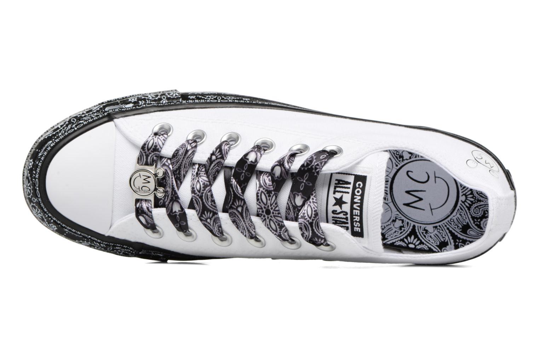 Baskets Converse Converse x Miley Cyrus Chuck Taylor All Star Ox Blanc vue gauche