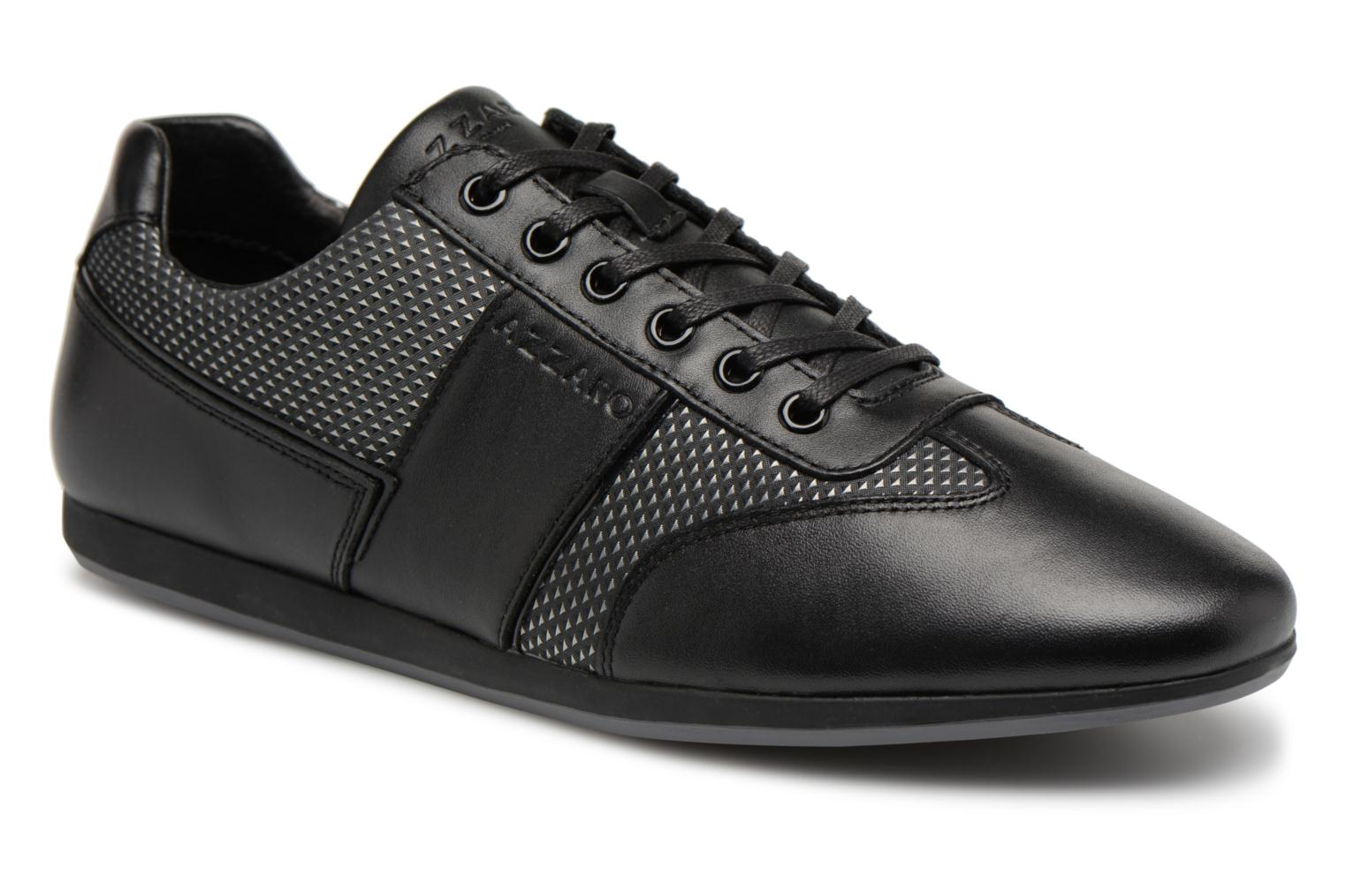 Marques Chaussure luxe homme Azzaro homme PATCH NOIR ARGENT OR