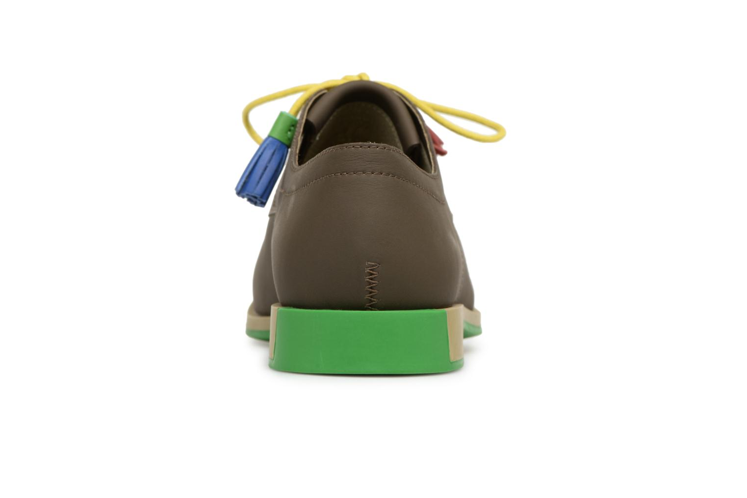 Lace-up shoes Camper TWS K200401 Brown view from the right