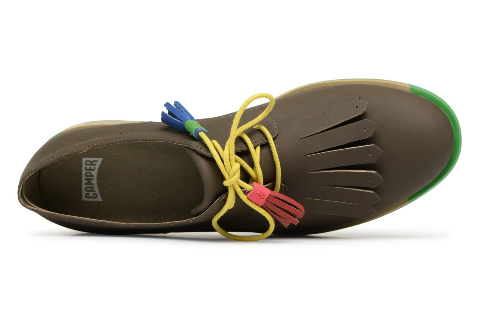 Lace-up shoes Camper TWS K200401 Brown view from the left