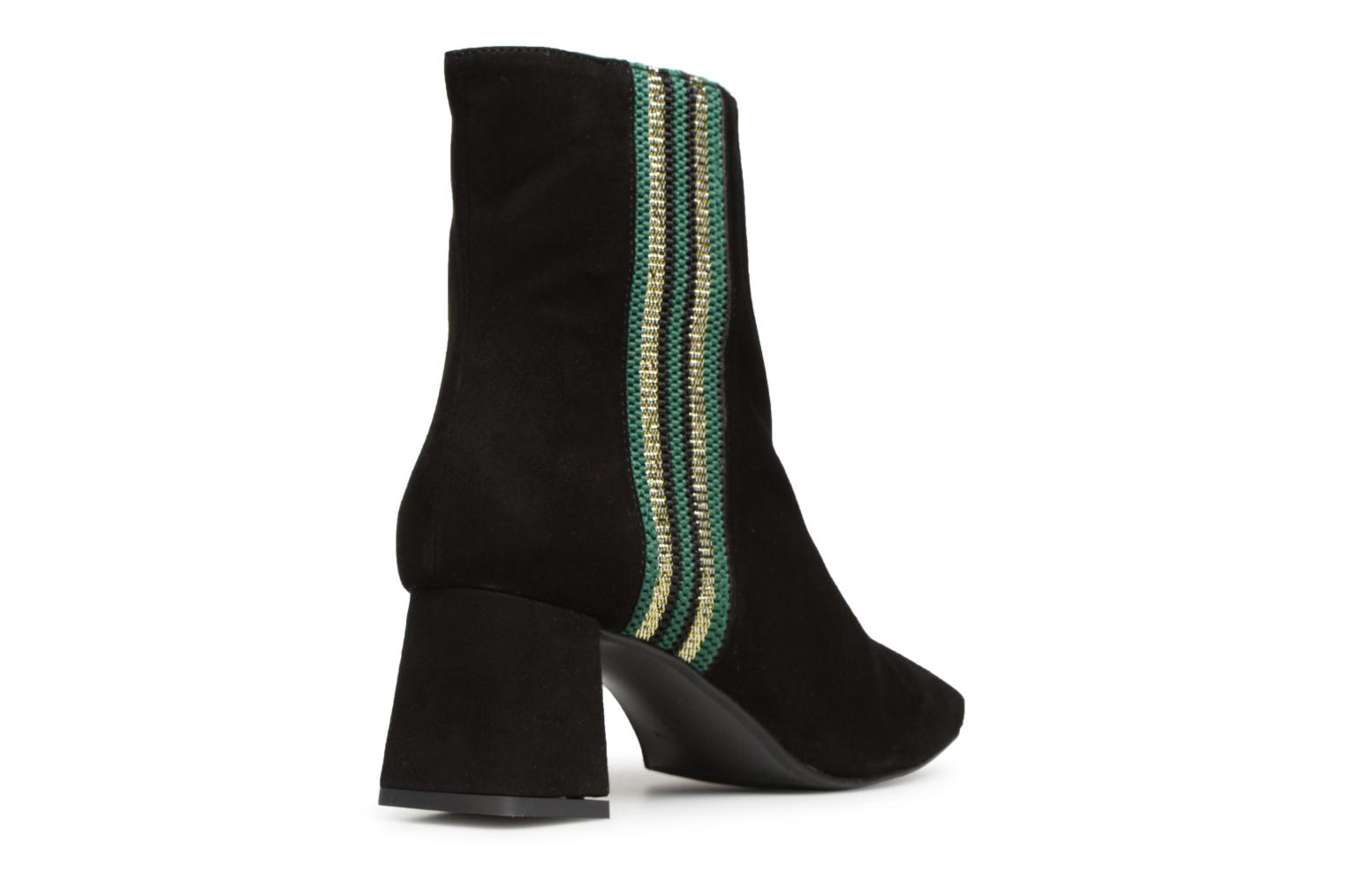 Talons SARENZA Bande Velours Verte Girl Cuir à Noir 1 Busy Bottines by Made UBSxYY