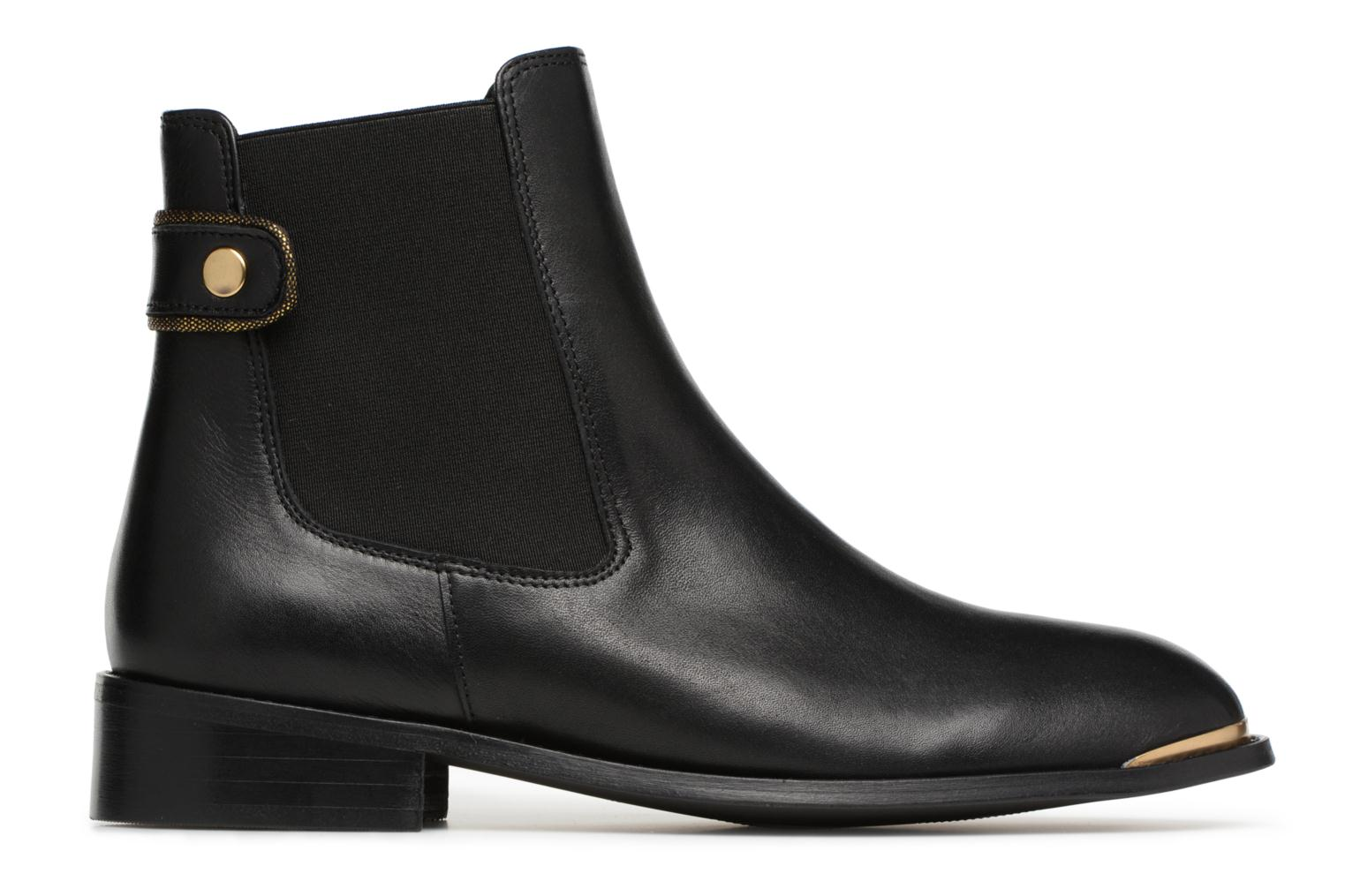 Marques Chaussure femme Made by SARENZA femme Busy Girl Bottines Plates #3 Cuir Lisse Noir