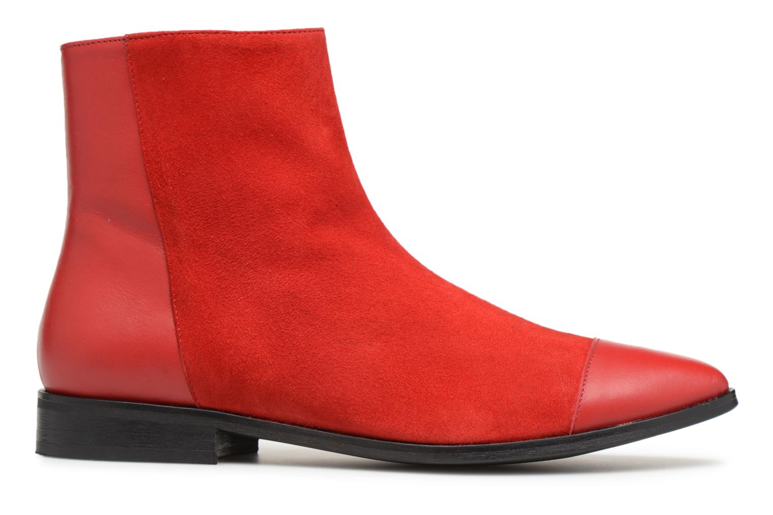 by 1 SARENZA Et Bottines Cuir Toundra Rouge Plates Made Girl Lisse Velours dxFWR4dq
