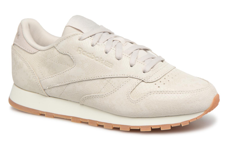 Grandes descuentos últimos zapatos Reebok CL LTHR (Beige) - Deportivas Descuento