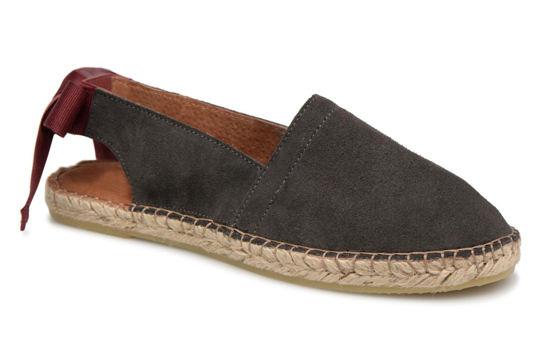 Zapatos promocionales Pieces MAVEN SUEDE ESPADRILLE (Gris) - Alpargatas   Los últimos zapatos de descuento para hombres y mujeres
