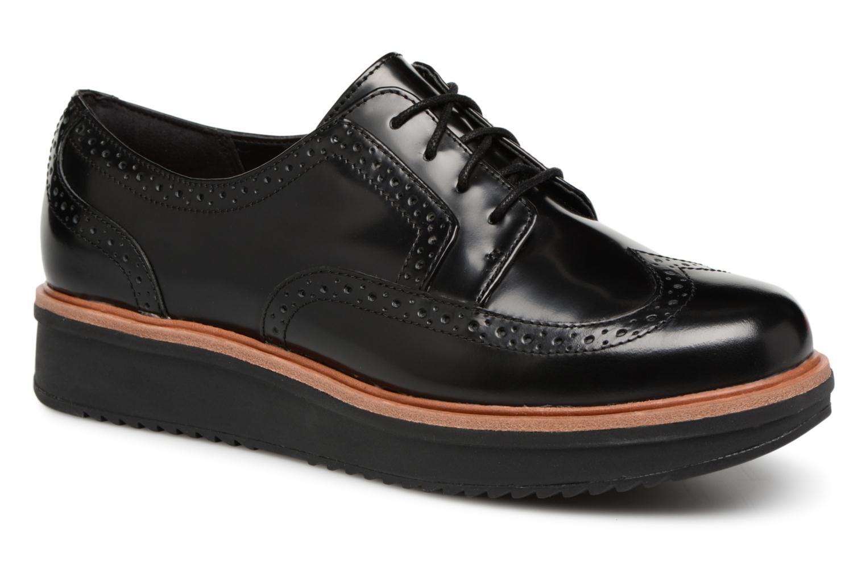 modelo más vendido de la marcaClarks Teadale Maira (Negro) - Zapatos con cordones en Más cómodo
