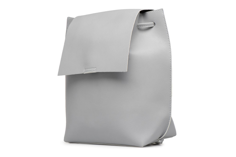 Rucksäcke Street Level Slouch thin strap backpack grau schuhe getragen