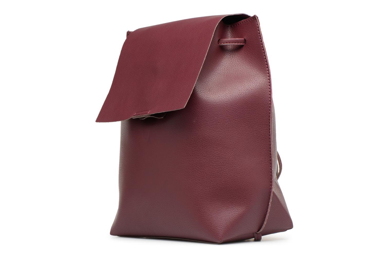 Sacs à dos Street Level Slouch thin strap backpack Bordeaux vue portées chaussures