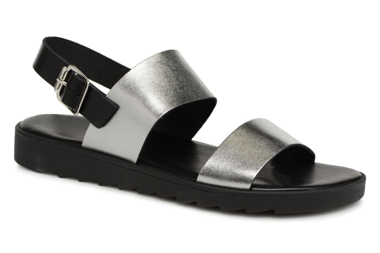 Grandes descuentos últimos zapatos Pieces LEATHER SANDAL (Plateado) - Sandalias Descuento