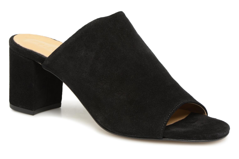 Zapatos promocionales Pieces MULE TALON CARRE (Negro) - Zuecos   Venta de liquidación de temporada