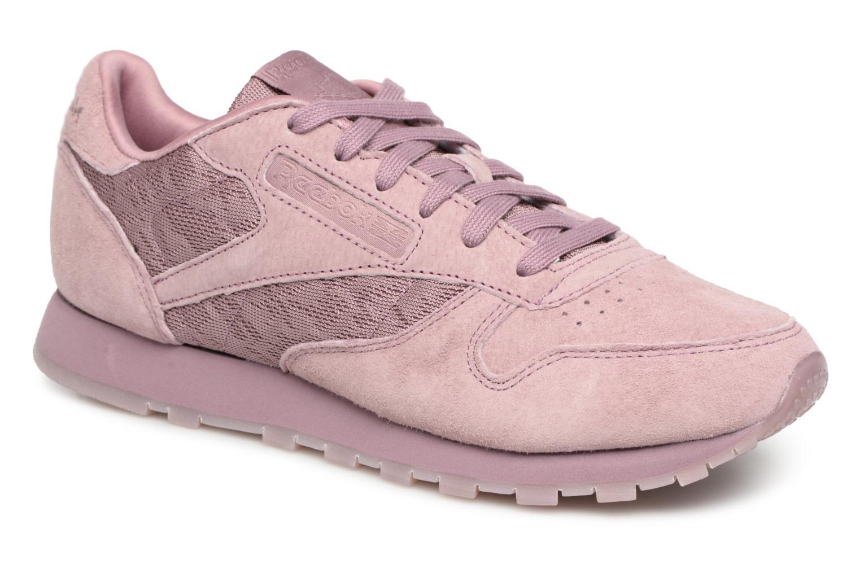 Zapatos promocionales Reebok Classic Leather Lace (Violeta) - Deportivas   Descuento de la marca