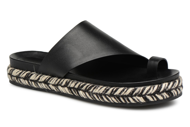 6a5db2d23a4 Zapatos promocionales Sigerson Morrison Mule asymétrique compensée (Negro)  - Zuecos Los zapatos más populares