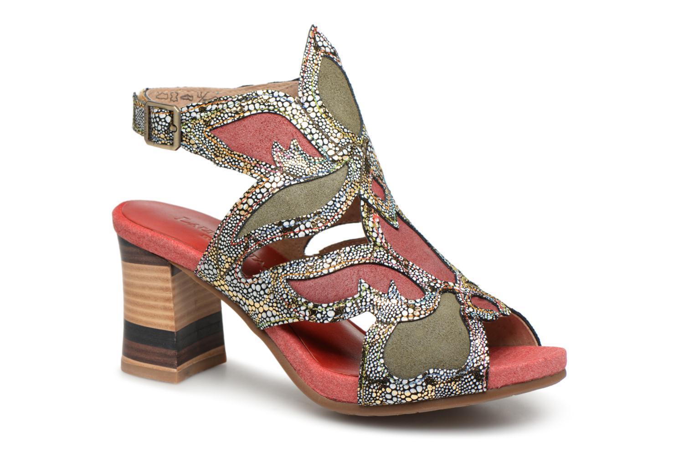 Zapatos casuales salvajes Laura Vita Celeste 028 (Rojo) - Sandalias en Más cómodo