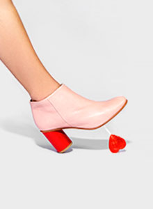 Chaussures rouge rose Saint Valentin