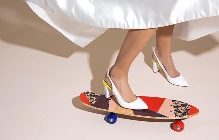 Cérémonie : chaussures blanches femme